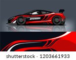 sport car racing wrap design.... | Shutterstock .eps vector #1203661933