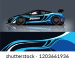 sport car racing wrap design.... | Shutterstock .eps vector #1203661936