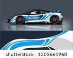 sport car racing wrap design.... | Shutterstock .eps vector #1203661960