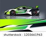 sport car racing wrap design.... | Shutterstock .eps vector #1203661963