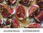 Sliced figs drizzled with wild...