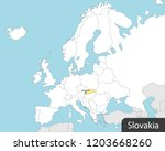 europe map  slovakia  capital... | Shutterstock .eps vector #1203668260