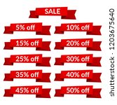 set of red sale ribbons with...   Shutterstock .eps vector #1203675640