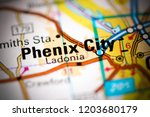phenix city. alabama. usa on a... | Shutterstock . vector #1203680179