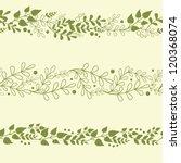 three vector green plants... | Shutterstock .eps vector #120368074