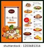 germany cuisine menu  healthy... | Shutterstock .eps vector #1203681316