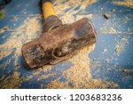 small single handed worn sledge ... | Shutterstock . vector #1203683236