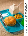 elementary school lunch... | Shutterstock . vector #1203684163
