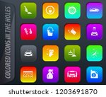car wash colored icons in the... | Shutterstock .eps vector #1203691870