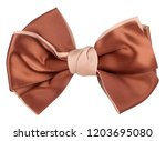 brown beige hair bow tie | Shutterstock . vector #1203695080