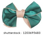 green beige hair bow tie | Shutterstock . vector #1203695683