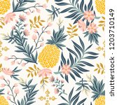 tropical vintage seamless... | Shutterstock .eps vector #1203710149