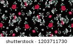 seamless floral pattern in... | Shutterstock .eps vector #1203711730