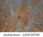 metal rust background  decay... | Shutterstock . vector #1203720793