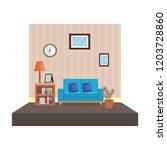 home livingroom place scene | Shutterstock .eps vector #1203728860