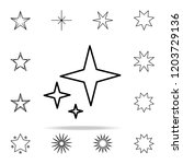 stars line icon. web icons... | Shutterstock .eps vector #1203729136