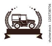 warranty seal original coffee... | Shutterstock .eps vector #1203738706