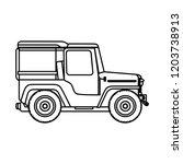 coffee car transportation icon | Shutterstock .eps vector #1203738913
