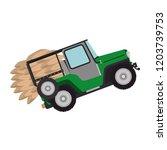 coffee car transportation icon | Shutterstock .eps vector #1203739753
