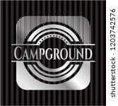 campground silver shiny badge | Shutterstock .eps vector #1203742576