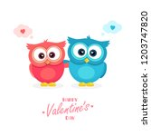 happy valentine's day poster.... | Shutterstock .eps vector #1203747820