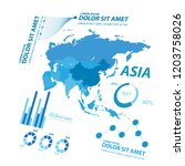 big data map infographic... | Shutterstock .eps vector #1203758026