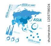 big data map infographic... | Shutterstock .eps vector #1203758026
