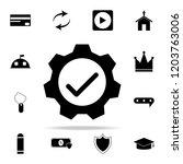 mechanism verified icon. web... | Shutterstock .eps vector #1203763006