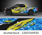 pick up truck decal design... | Shutterstock .eps vector #1203764920