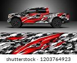 pick up truck decal design... | Shutterstock .eps vector #1203764923