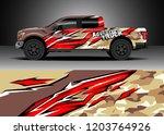 pick up truck decal design... | Shutterstock .eps vector #1203764926