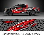 pick up truck decal design... | Shutterstock .eps vector #1203764929
