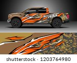 pick up truck decal design... | Shutterstock .eps vector #1203764980