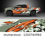 pick up truck decal design... | Shutterstock .eps vector #1203764983