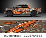 pick up truck decal design... | Shutterstock .eps vector #1203764986