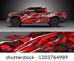 pick up truck decal design... | Shutterstock .eps vector #1203764989