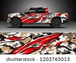 pick up truck decal design... | Shutterstock .eps vector #1203765013