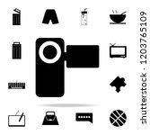 manual video camera icon. web... | Shutterstock .eps vector #1203765109