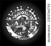 calves grey camo emblem | Shutterstock .eps vector #1203766753
