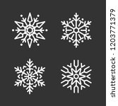 set of snowflakes christmas...