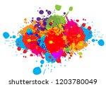 abstract splatter color... | Shutterstock .eps vector #1203780049