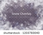 falling christmas snow.... | Shutterstock .eps vector #1203783040