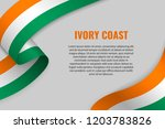 waving ribbon or banner with... | Shutterstock .eps vector #1203783826