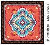 indian rug tribal ornament... | Shutterstock .eps vector #1203784276