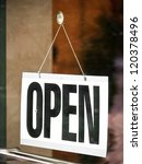 open sign at a store in vienna | Shutterstock . vector #120378496
