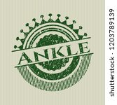 green ankle with rubber seal... | Shutterstock .eps vector #1203789139
