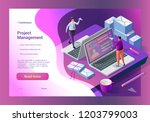 management and sending messages.... | Shutterstock .eps vector #1203799003