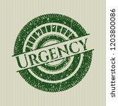 green urgency rubber grunge... | Shutterstock .eps vector #1203800086
