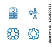 collection of 4 sos outline... | Shutterstock .eps vector #1203800656