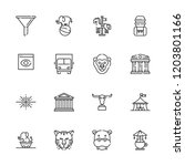 collection of 16 big outline... | Shutterstock .eps vector #1203801166